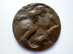 Esposizione Internazionale Milano 1906 Bronz Emlékérem Plakett  Expó Giannino Castiglioni S. Johnson