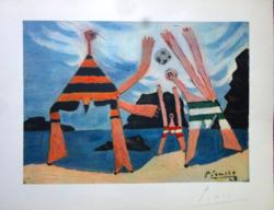 Picasso sajátkezű aláírásával! 72 éves litográfia