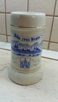 Hollóházi porcelán kézzel festett sörös korsó eladó!