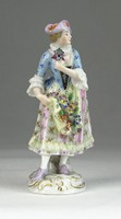 0R298 Antik SEVRES francia porcelán figura 12 cm