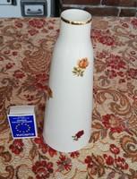 Gyönyörű Hollóházi rózsás váza, Nosztalgia, porcelán