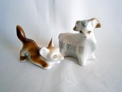 Aranyos Orosz porcelán róka és bárány