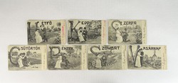 0U467 Századfordulós képeslap sorozat 7 darab