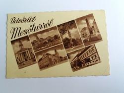 Mezőtúri városrészletek, postatiszta képeslap.