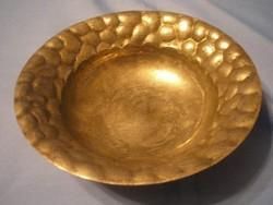 Biedermeier ezüstözött hólyag mintás súlyos asztal közép  kínáló ritkaság