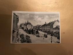 Irredenta képeslap Kassa Visszatért bélyegzéssel