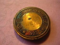 BM stempli    023 . számmal  , anyaga  vörös réz  ,37 x 4  mm