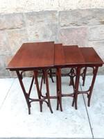 Thonet lerakó asztalok, zsúrasztal garnitúra, 4 db-os szett