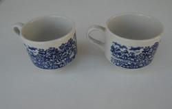 2 darab Angol,jelenetes porcelàn csésze pótlásra