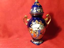 1222 Jelenetes  fedeles japán váza 15 cm