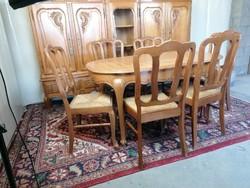 Neobarokk étkező (asztal +6 szék) I.