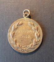 Füsti ötvös - Irredenta díj érem Tiszafüred 1930
