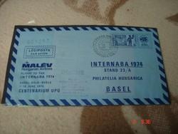 Malév -INTERBANA 1974-BASEL-SORSZÁMOZOTT!