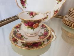 Royal Albert Old Country Roses Angol porcelàn teàs triò