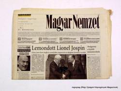2002 május 7  /  MAGYAR NEMZET  /  Régi ÚJSÁGOK KÉPREGÉNYEK MAGAZINOK Szs.:  14753
