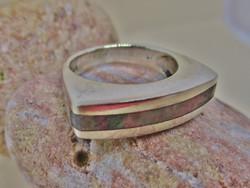 Gyönyörű art deco iparművész gyöngyházas ezüstgyűrű