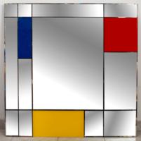 Piet Mondrian stílusában készült tükör