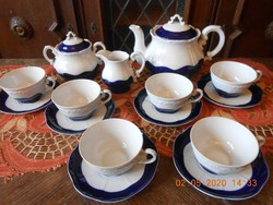 Zsolnay Pompadour teás készlet 6sz.