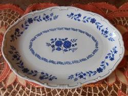 Zsolnay ritka kék rózsa mintás sültes, húsos, pecsenyés tál