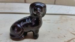 Porcelán kutya, pici mléktárgy eladó!