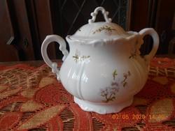 Zsolnay Barackvirág mintás nagyméretű cukortartó, teás készlethez