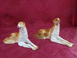 ROYAL DUX  csehszlovák porcelán orosz agár kutya.   Számozott, vitrin minőség.