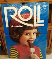Roll jégkrém plakát