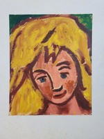Németh Miklós (1934 - 2012)  Lányportré