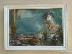 Fátyol Zoltán: Próféta című festménye (Petőfit ábrázoló festmény)