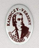 1A406 Kazinczy-verseny zománc tábla 5 cm