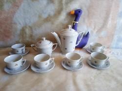20223I Zsolnay porcelán manófüles mokkás, kávéskészlet
