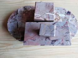 Antik márvány kalamáris tintatartó itatós készlet  30x18 és az itatós 17 cm