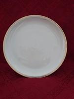 Alföldi porcelán, kerek húsos tál, átmérője 28 cm. Arany szegélyes.