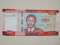 Libéria 50 dollár 2016 UNC