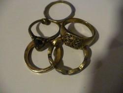 Öt db régi gyűrű