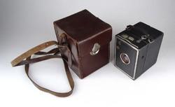 1A368 Régi DUPLAR boxfényképező gép bőr tokjában