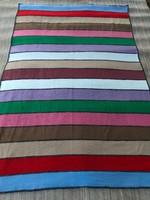 Pecsvörk típusú kézzel szőtt kilim szerű szőnyeg vagy ágy takaró 1950 60 as évek. Rug Carpet