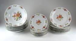 1A423 Virágmintás kínai porcelán étkészlet 3 x 7db