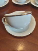 Bohemia cseh porcelán teáscsésze +alj 6 db