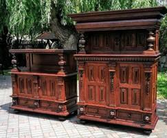 Reneszánsz kabinet szekrény párban