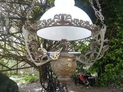 Függő lámpa,csillár, kúriába , hatalmas méretű szecesszós.Lüszter petróleum