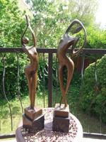 Art deco bronze statues