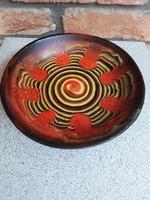 Jelzett kerámia fali tányér