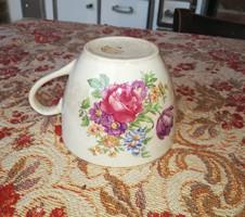 Gyönyörű régi érett Ditmar Urbach virágos csésze, Gyűjtői darab