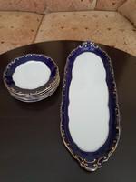 Zsolnay pompadour III -as 6sz porcelán szendvicsezo