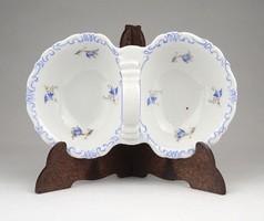 1A424 Régi Zsolnay porcelán asztali sótartó