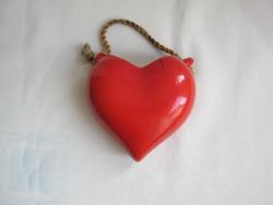 Drasche porcelán szív alakú fali dísz