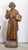 Máriahegyi János - Faragott fa egyházi szobor
