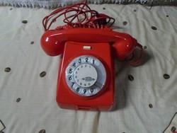 Retro tárcsás telefon (CB 667, piros)