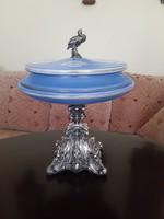 Antik barokk ezüst üveg kínáló